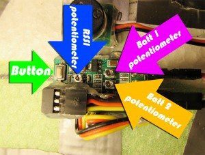 Mini OSD potentiometers
