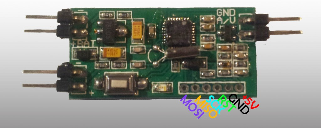 Pin details for flashing the E-OSD   Thanks to PeterVRC (RCgroups) for the picture.